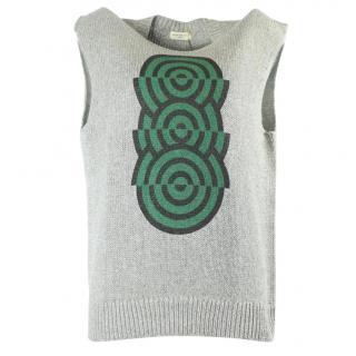 Dries Van Noten grey knit top