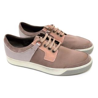 Lanvin Lilac And Pink Contrast Trainers