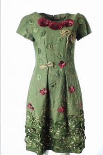 Alberta Ferretti Flower Print Dress