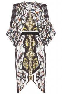 Peter Pilotto Luna Gold Arrow Cape Dress