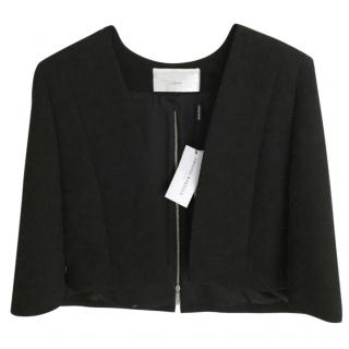 Amanda wakeley black tailored cape