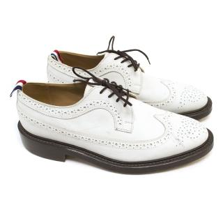 Thom Browne White Brogues With Brown Soles