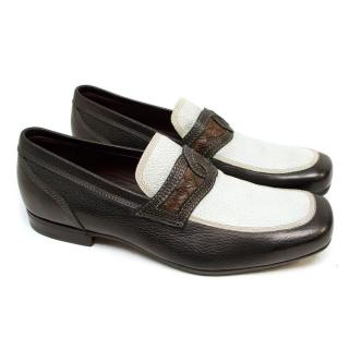 Bottega Veneta Loafers in Brown and White