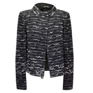 St John Couture Grey Multi-Woven Ribbon Jacket