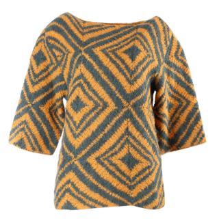 Dries van noten orange woolen sweater