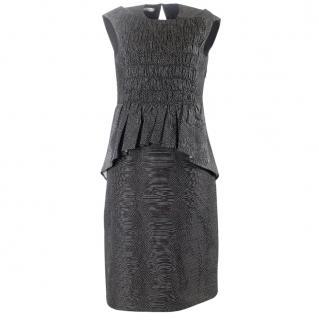 Dries van noten black and white peplum dress