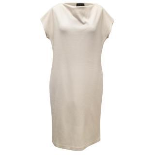 St John Cream Sleeveless dress