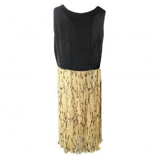Dries van noten black and beige dress