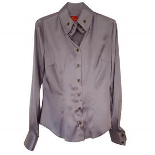 Vivienne westwood grey silk shirt