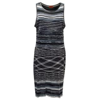 Missoni Black, White and Grey Striped Dress