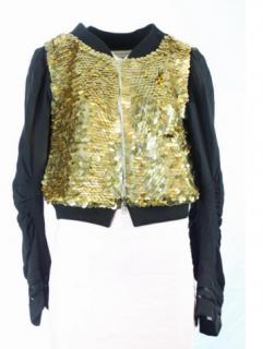 Dries van noten gold sequined jacket