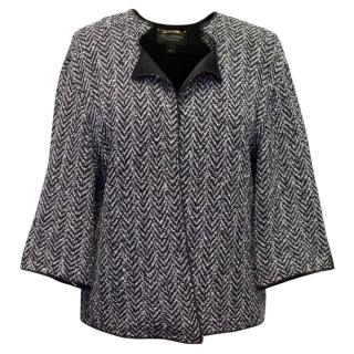 St John Grey and Black Knitted Jacket