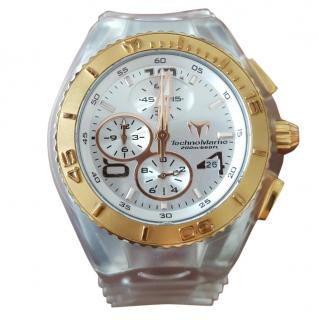 Technomarine watch with transparent plastic strap