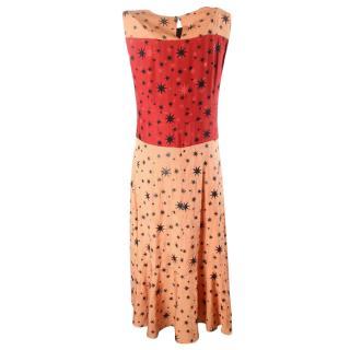 Dries van noten star printed maxi dress.