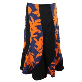 Dries van noten floral printed long skirt