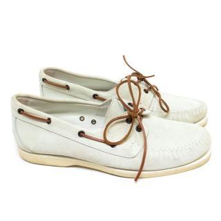 Bottega Veneta Cream Loafers
