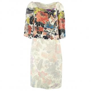 Dries van noten floral printed dress