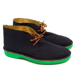 Ralph Lauren Navy Canvas Boots