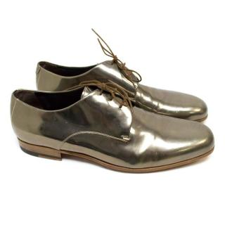 Lanvin Metallic Gold Dress Shoes