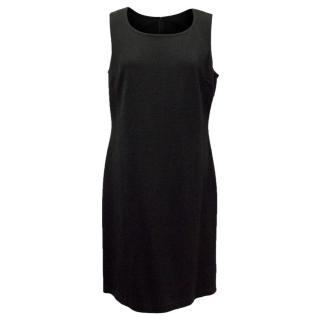 St John Black Sleeveless Shift Dress