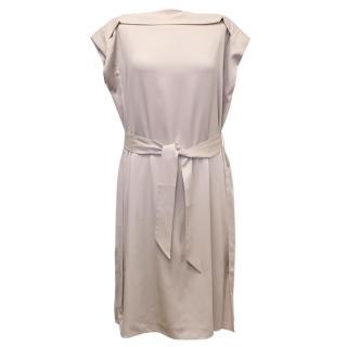 Armani Silk Beige Belted Dress