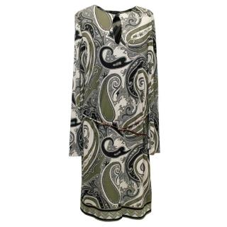 Etro Paisley Silk Belted Dress