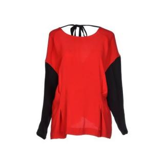 Marni red and black blouse