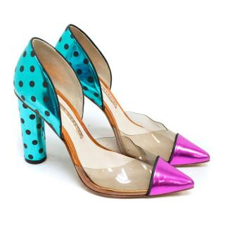 Sophia Webster Jessica Polka-dot Leather Pumps
