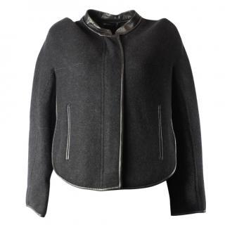 Giorgio armani black woolen jacket
