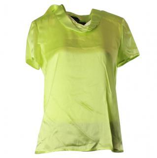 Giorgio armani lime blouse