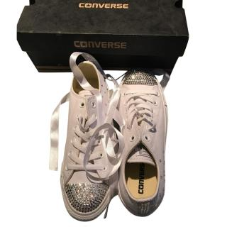 Converse diomente custom made brand trainers