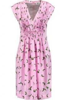 Sonia by Sonia Rykiel Pleated Printed Silk Dress