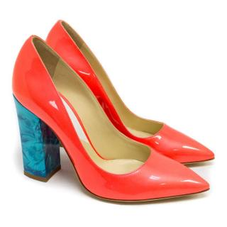 Pollini Pink Patent Leather Heeled Pumps