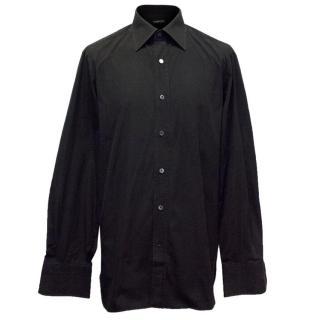 Tom Ford Men's Black Long Sleeved Shirt