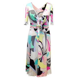 Emilio Pucci Print Tie Dress