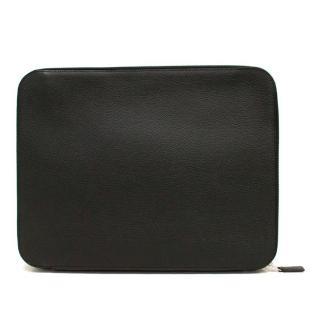 Hermes Black Togo Leather Multipocket Document Portfolio