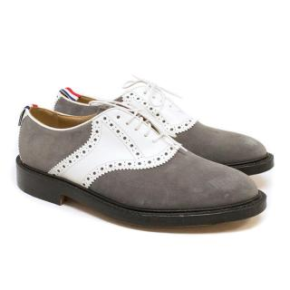 Thom Browne Grey And White Brogues