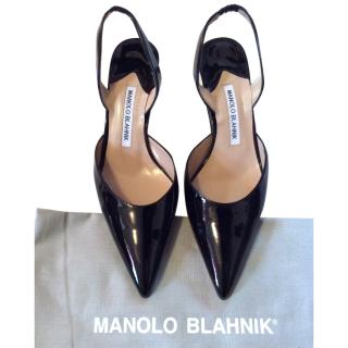 Manolis Blanik sling backs