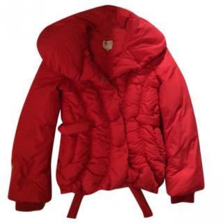 Armani  Collezioni red puffer jacket