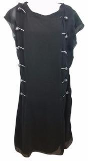 NINA RICCI Black Silk Shift Dress