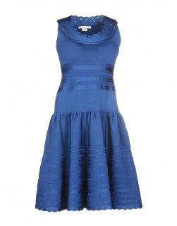 ANTONIO BERARDI Blue Skater Dress