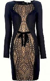 EMILIO PUCCI Black Dress with front lace panel