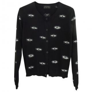 Maison Scotch Eye Print Sweater/Cardigan