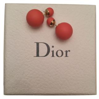 Dior Tribal earrings- Pink with yellow gold