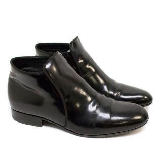 Celine Black Patent Boots