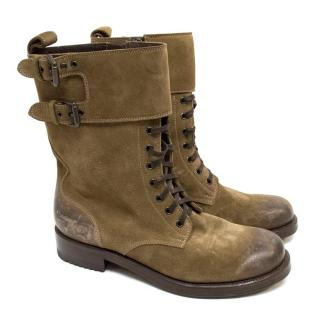Bottega Veneta Lace Up Boots