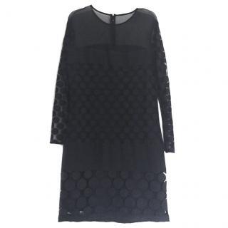 DVF black mini dress