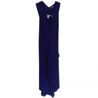 DVF Blue Silk Chiffon dress