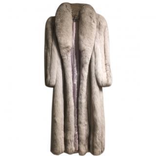 Saga Arctic Fox Fur Full Length Coat