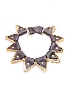 Moxham Brass and Leather choker/necklace
